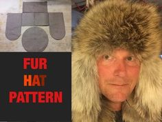 In this video, I give a detailed pattern for a fur hat. Hope you enjoy! Leather Hats, Sewing Leather, Leather Pattern, Leather Crafting, Craft Fur, Rabbit Fur Hat, Rabbit Crafts, Mens Fur, Fur Accessories