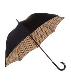 BURBERRY Heritage Check-Lined Walking Umbrella. #burberry #