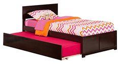 Orlando Bed with Flat Panel Foot Board and Urban Trundle Twin Espresso >>> More info could be found at the image url. (This is an affiliate link and I receive a commission for the sales)