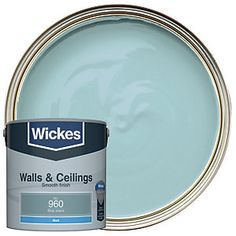 Emulsion paint with excellent opacity and a smooth finish for walls and ceilings in all interior rooms. Order Up, Blue Jeans, Moisturizer, Home Improvement, It Is Finished, Painting, Living Room, Ceilings, Bungalow