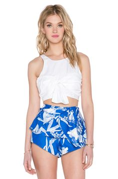 Style Stalker Soundmaker Crop Top in White