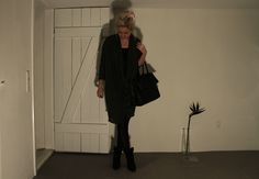 Black Swan Dress - #4Party and Daily# Casual Chic - Nice draped detail.