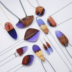 Australian wood + shades of purple resin BoldB.etsy.com #BoldB #purple #violet…