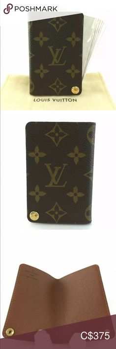 Authentic Louis Vuitton Porte Cardes Pression Card Authentic Louis Vuitton Card Case Monogram Print Wallet and Plastic Insert Date Code : BU0044 Made in France Comes with dust bag. Louis Vuitton Bags Wallets