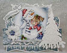 """Het kaartenhoekje van Gretha: Bildmalarna """"Snowman Hugs"""""""