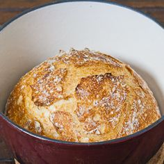 Crusty Bread - bake this easy to make bread in a cast iron pot and you ...