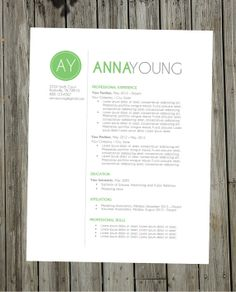 Resume Template Instant Word Document Download by ClingDesigns, $15.00