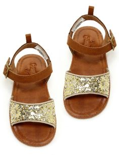 Sparkly Gold + Cognac Baby Sandals {oshkosh}