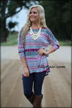 e976544ce5e664 All Aztec Dolman in Pink - Filly Flair Filly Flair, Cowgirl Hats, Short  Skirts