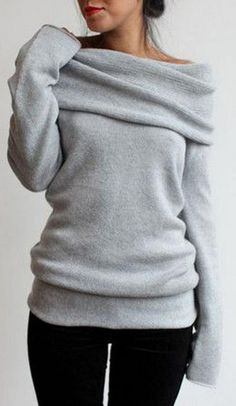 So Heated Big Lapel Sweater
