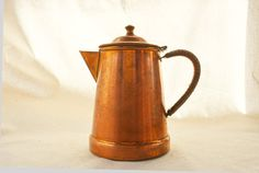 Vintage Copper Coffee Pot Portugal Made Pot with by Vintassentials