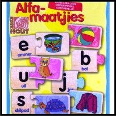 Alfa-Maatjies @ R55: Hierdie kleurvolle 2-stuk legkaarte sal jou kind help om die letters van die alfabet te herken en te leer hoe hulle klink. Goedgekeur deur onderwysers - Kurrikulum vriendelik.  BESKIKBAAR BY: www.familietyd.co.za/shop Afrikaans, Hoe, Diy For Kids, Letters, Education, Products, Learning, Fonts, Letter
