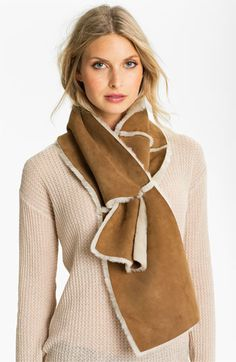 UGG® Australia Classic Shearling 4-Panel Scarf | Nordstrom   $250    ....or just cut up a car shammy....!