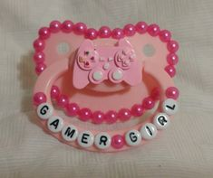 Pink Gamer Girl Pacifier · Baby Bat Creations · Online Store Powered by Storenvy