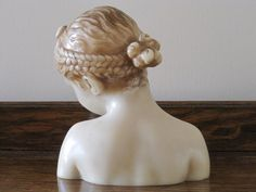 Antique French Captivating Wax Bust van FatiguedFrenchFinds op Etsy