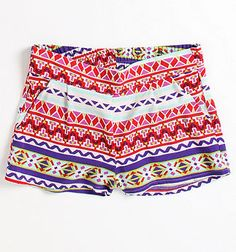 Kirra Multi Color Challis Shorts - Just bought these!