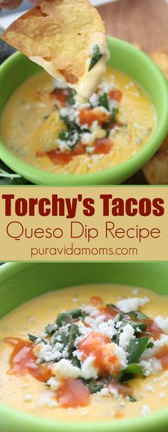 Damn Good Torchy's Tacos Queso Dip Recipe Is there anything more satisfying than freshly made tortilla chips dipped in a warm, gooey queso dip? Yes- it's this simple copycat recipe for the delicious Torchy's queso dip- you'll make it over and over! Dip Recipes, Copycat Recipes, Appetizer Recipes, Mexican Food Recipes, Dinner Recipes, Cooking Recipes, Ethnic Recipes, Soup Appetizers, Simple Appetizers