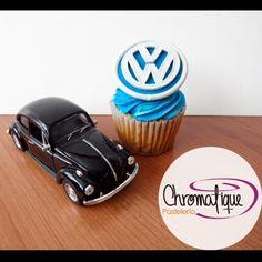 Volkswagen logo cupcake (Cupcake con el logo de Volkswagen) https://www.facebook.com/ChromatiquePasteleria