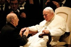 Pope John Paul II & future Pope Francis