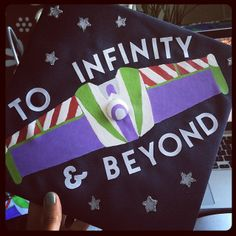 Disney inspired graduation cap - To Infinity and Beyond #ToyStory #Disney #GradCap