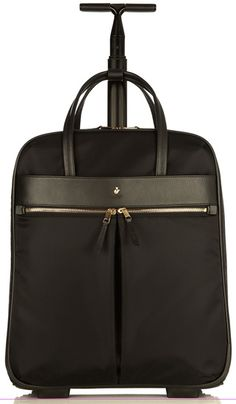 This classic rolling carry on / laptop bag for women features Knomo at its very best.