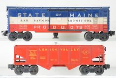 Unusual Lionel 6456-75 & (3494-275) Freights : Lot 498