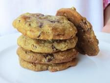 Ina Garten's gluten-free chocolate chunk cookies, made with Thomas Keller's Cup 4 Cup flour.