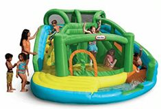 Little Tikes 2-in-1 Wet 'n Dry Inflatable Bouncer Kids Slide, Bouncy House, Inflatable Bouncers, Little Tikes, Water Play, Water Slides, Cool Pools, Things That Bounce, Water Games