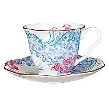 Buy Wedgwood Butterfly Bloom Cup and Saucer Set Online at johnlewis.com