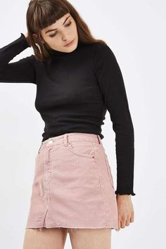MOTO Cord Highwaisted Skirt - Topshop