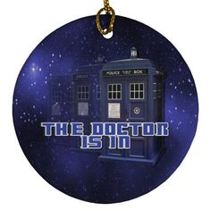 The Doctor Police Box Round Ornament Galaxy Background, Police Box, Customized Girl, Box Design, Fandom, Ornaments, Christmas Decorations, Ornament, Decor