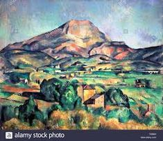 Mont Sainte Victoire Shower Curtain by Cezanne Paul. This shower curtain is made from polyester fabric and includes 12 holes at the top of the curtain for simple hanging. The total dimensions of the shower curtain are wide x tall. Post Impressionism Art, Impressionist Art, Paul Cezanne Paintings, Famous Art Paintings, Art Therapy Projects, Toddler Art Projects, Historical Art, Landscape Paintings, Landscapes