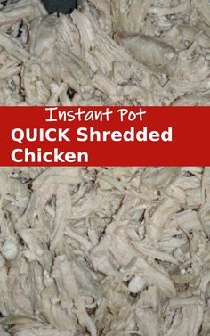 BEST Instant Pot Shredded Chicken Recipe is so easy to make! Ready in just 25 minutes. This healthy Instapot Shredded Chicken Recipe is great for making healthy tacos, casseroles, salads and more. Click over for the complete recipe #chicken #instapot Mexican Chicken Recipes, Quick Chicken Recipes, Shredded Chicken Recipes, Chicken Breast Recipes Healthy, Easy Pasta Recipes, Recipe Chicken, How To Cook Chicken, Easy Dinners For Kids, Dinner With Ground Beef