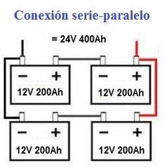 Conexion serie y paralelo de baterías