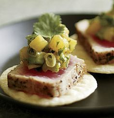 Seared Tuna with Tropical Salsa - Fine Cooking Recipes, Techniques and Tips