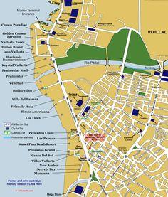 Map Of Old Town Puerto Vallarta Puerta Vallarta Map Maps