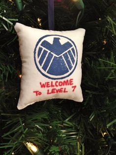 """Agents of Shield Logo """"Welcome to Level 7"""" Christmas Ornament Marvel Phil Coulson Director Hydra Skye Deathlok Tahiti Lives FREE SHIPPING! by HollyAndHerHobbies on Etsy"""
