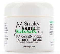 (Paraben-Free) Natural Estrogen/Estriol Cream (Bioidentical and Unscented) 2 Ounce Jar, 150 Mg.  Believe it or not... use as face cream for unwanted wrinkles!!!!!