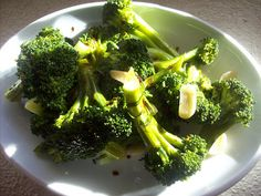 red or green?: broccoli with garlic & chile, puglian style #fall fest