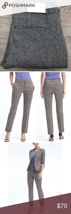 🆕 Banana Republic Ryan-Fit Pant Brand New, Tags Attached. Size: 0  Color: Black and Grey, Very Soft Material  Banana Republic, Ryan-Fit  * A sleek new pant in a modern fit. The Ryan offers a leg-lengthening slim-straight silhouette. * Straight-cut waistband. Zip fly with hook-and-bar closure. Belt loops. * Front off-seam pockets. Rear welt pockets. Banana Republic Pants Trousers