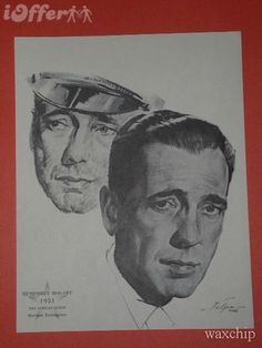 """Humphrey Bogart-""""The African Queen"""" Bogart And Bacall, Humphrey Bogart, Play It Again Sam, Lead Men, Charcoal Portraits, Warner Brothers, Best Actor, Great Movies, Duke"""