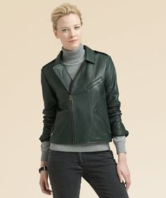 LL Bean Forest Leather Jacket