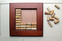 Cork Crafts  DIY Wine Cork Bulletin Board  by TheWoodenBee on Etsy