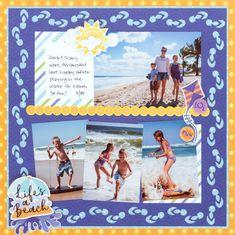 Beach Scrapbook Layouts, Scrapbook Borders, Mini Scrapbook Albums, Baby Scrapbook, Travel Scrapbook, Scrapbooking Layouts, Scrapbook Pages, Wedding Scrapbook, Digital Scrapbooking