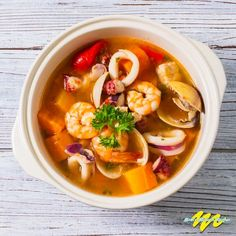 Mexican seafood soup is a medley of fresh seafood floating in vegetables and tomato flavored broth.This soup is filled with a variety of tastes and textures