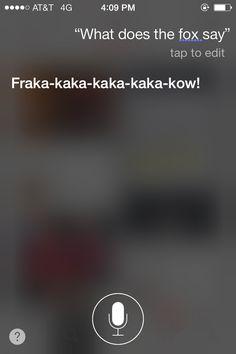 What the fox says according to Siri..
