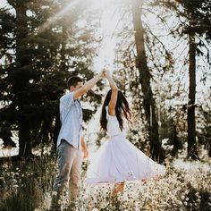 Magical engagement session with tulle... Lilac tulle skirt by Bliss Tulle [: kyliemorganphotography.com]