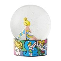 cor to new heights with this Tinker Bell Water Globe by pop artist Romero Britto. A little shake sends colorful glitter swirling around everyone's favorite Never Land pixie. Annabelle Doll, Animated Halloween Props, Trick Or Treat Studios, Disney Traditions, Minnie Bow, Dog Pajamas, How To Make Animations, Mickey Mouse Club, Disney Sketches