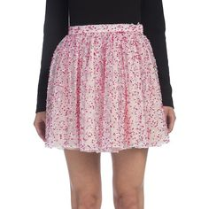 Fendi Floral Lace Skirt ($1,990) ❤ liked on Polyvore featuring skirts, apparel & accessories, lacy skirt, fendi skirt, pink floral skirt, long skirts and fendi