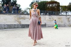 Street Style: Paris Fashion Week Spring 2014 Part Two - colored lenses